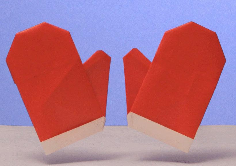 すべての折り紙 折り紙 サンタブーツ : Boxing Gloves Origami