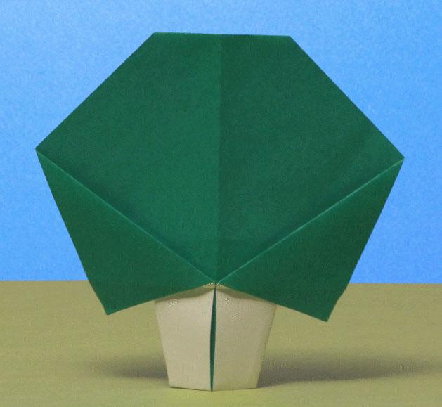 すべての折り紙 折り紙 雪だるまの折り方 : Origami Tree